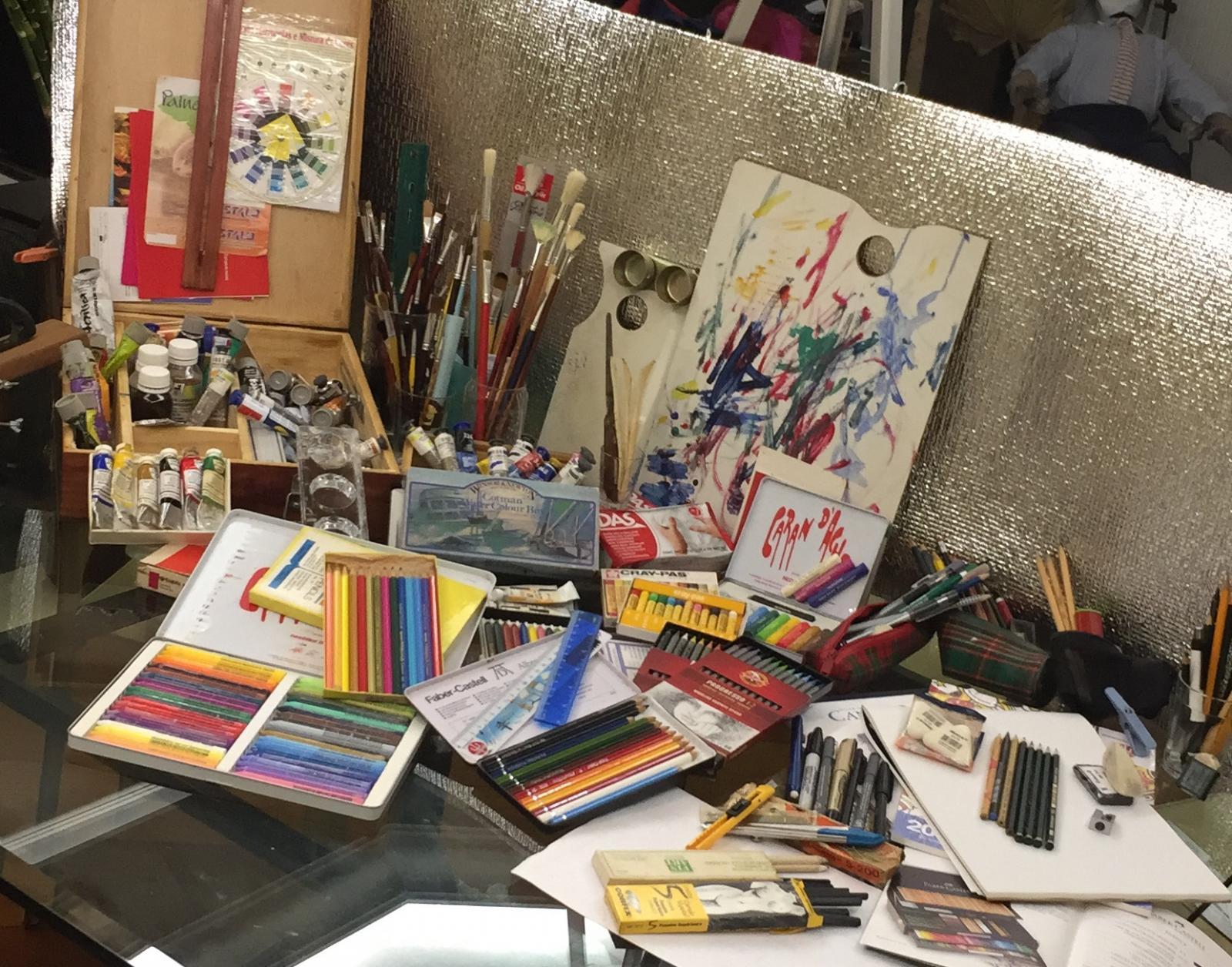 Início das Oficinas de Arte: Desenho